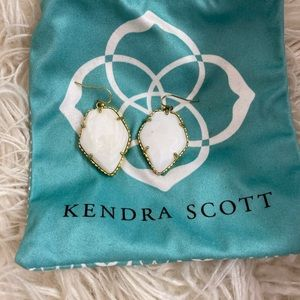 Kendra Scott earrings white gemstone